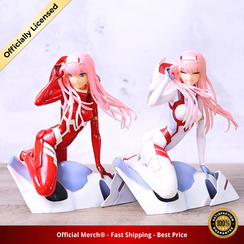 Anime Figure Darling in the FRANXX Figure Zero Two 02 Red White Clothes Sexy Girls PVC 1 - DARLING in the FRANXX Merch