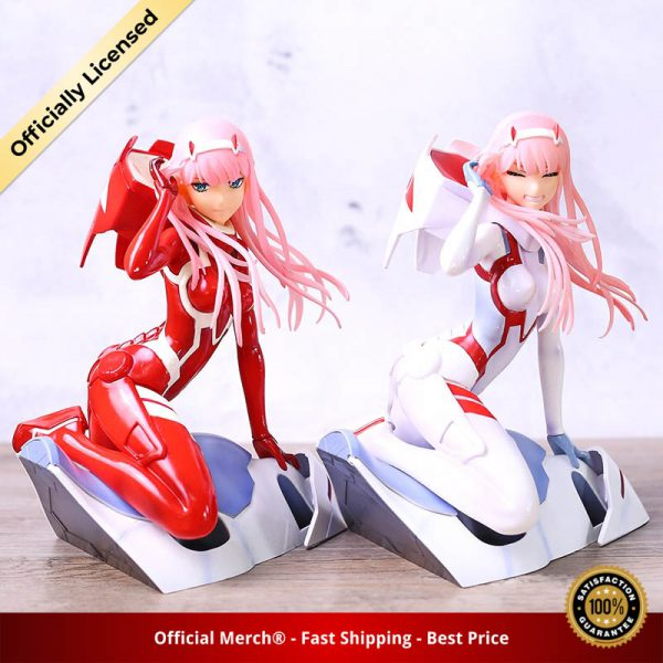 Anime Figure Darling in the FRANXX Figure Zero Two 02 Red White Clothes Sexy Girls PVC - DARLING in the FRANXX Merch