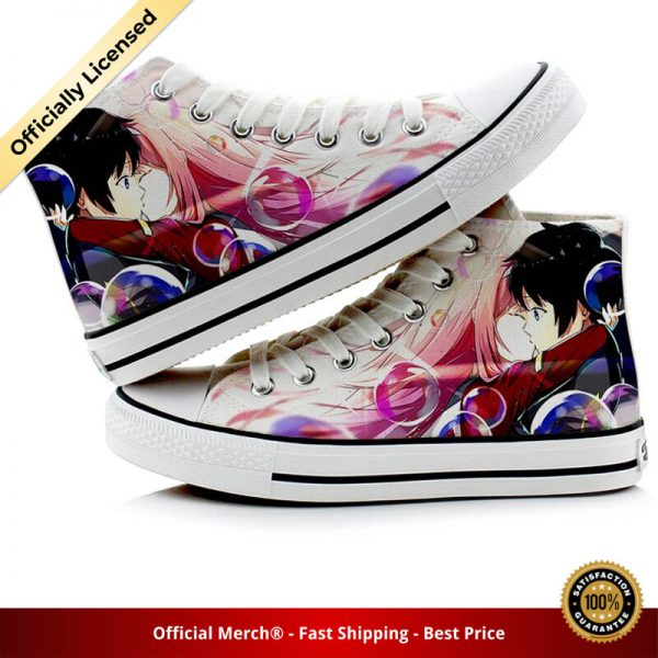 Unisex Anime DARLING in the FRANXX 3D hand painted Shoes HIRO ZERO TWO ICHIGO Duck Canvas 3 - DARLING in the FRANXX Merch