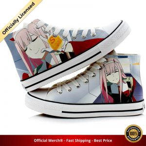 Unisex Anime DARLING in the FRANXX 3D hand painted Shoes HIRO ZERO TWO ICHIGO Duck Canvas - DARLING in the FRANXX Merch