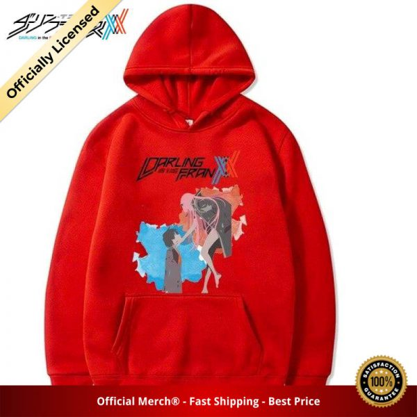 darling in the franxx zero two and hiro hoodie 948 - DARLING in the FRANXX Merch
