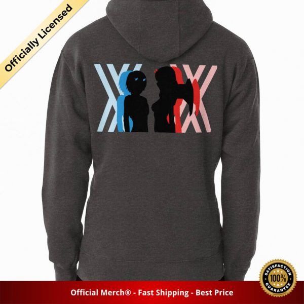 ssrcomhoodiemenscharcoal heatherbacksquare productx1000 bgffffff.1 21 - DARLING in the FRANXX Merch