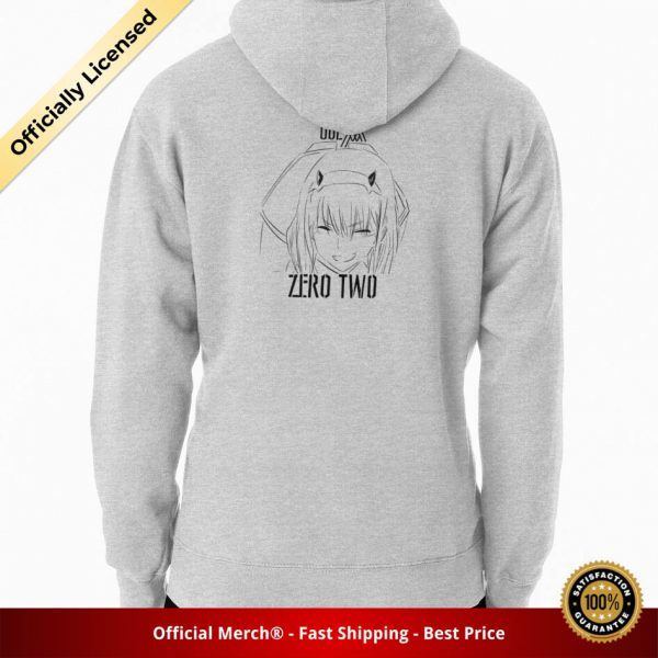ssrcomhoodiemensheather greybacksquare productx1000 bgffffff.1 22 - DARLING in the FRANXX Merch