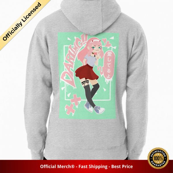 ssrcomhoodiemensheather greybacksquare productx1000 bgffffff.1 34 - DARLING in the FRANXX Merch