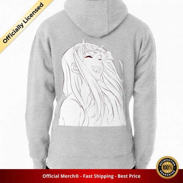 ssrcomhoodiemensheather greybacksquare productx1000 bgffffff.1u1 1 - DARLING in the FRANXX Merch