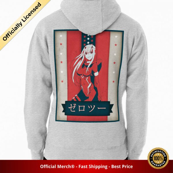 ssrcomhoodiemensheather greybacksquare productx1000 bgffffff.1u1 2 - DARLING in the FRANXX Merch