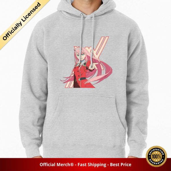 ssrcomhoodiemensheather greyfrontsquare productx1000 bgffffff.1 17 - DARLING in the FRANXX Merch