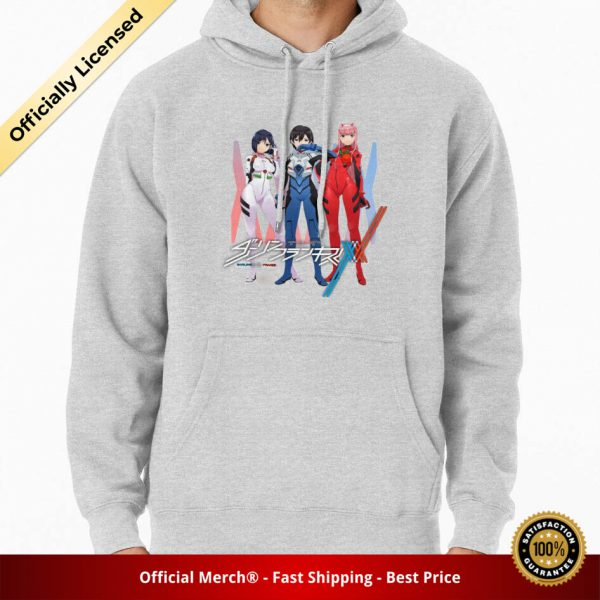 ssrcomhoodiemensheather greyfrontsquare productx1000 bgffffff.1u2 6 - DARLING in the FRANXX Merch