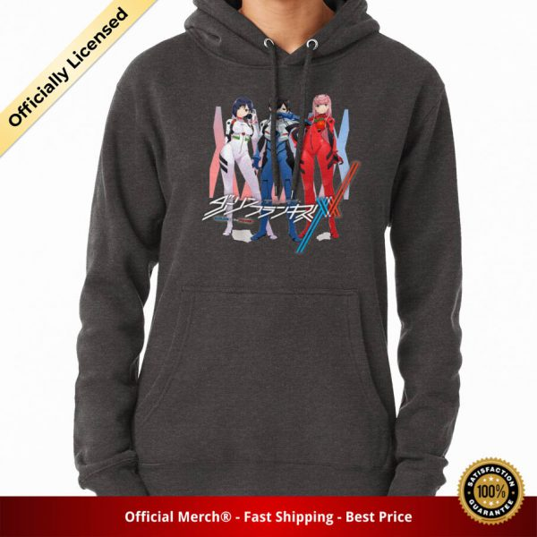 ssrcomhoodiewomenscharcoal heatherfrontsquare productx1000 bgffffff.1u2 2 - DARLING in the FRANXX Merch