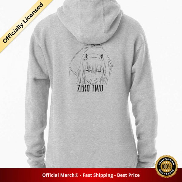 ssrcomhoodiewomensheather greybacksquare productx1000 bgffffff.1 17 - DARLING in the FRANXX Merch