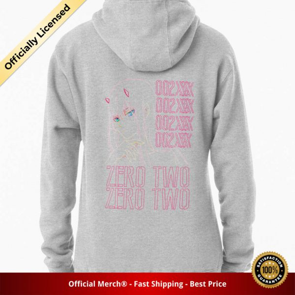 ssrcomhoodiewomensheather greybacksquare productx1000 bgffffff.1 20 - DARLING in the FRANXX Merch