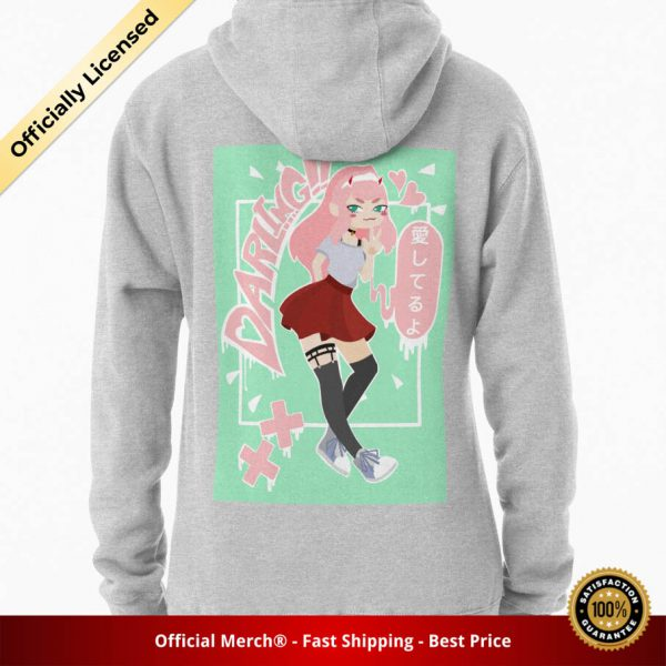 ssrcomhoodiewomensheather greybacksquare productx1000 bgffffff.1 26 - DARLING in the FRANXX Merch