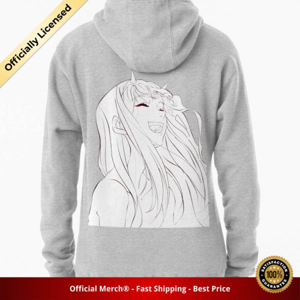 ssrcomhoodiewomensheather greybacksquare productx1000 bgffffff.1u1 1 - DARLING in the FRANXX Merch