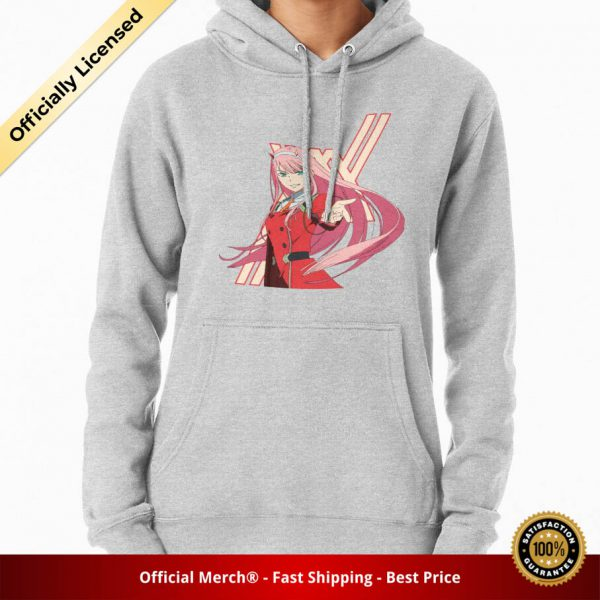 ssrcomhoodiewomensheather greyfrontsquare productx1000 bgffffff.1 24 - DARLING in the FRANXX Merch