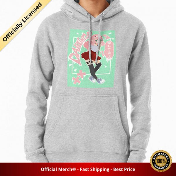 ssrcomhoodiewomensheather greyfrontsquare productx1000 bgffffff.1 26 - DARLING in the FRANXX Merch