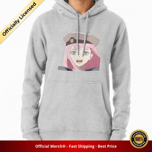 ssrcomhoodiewomensheather greyfrontsquare productx1000 bgffffff.1 35 - DARLING in the FRANXX Merch