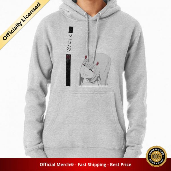 ssrcomhoodiewomensheather greyfrontsquare productx1000 bgffffff.1u1 - DARLING in the FRANXX Merch