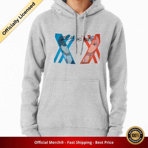 ssrcomhoodiewomensheather greyfrontsquare productx1000 bgffffff.1u2 4 - DARLING in the FRANXX Merch