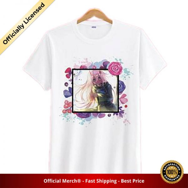 Darling in the Franxx Shirt Zero Two Surrounded by Flowers White | DARLING  in the FRANXX Merch