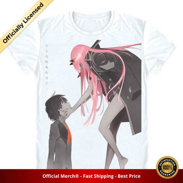 t shirt darling in the franxx shirt zero two x hiro 1 - DARLING in the FRANXX Merch