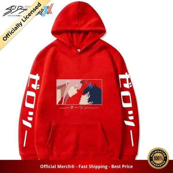 zero two and hiro kiss hoodie 140 - DARLING in the FRANXX Merch