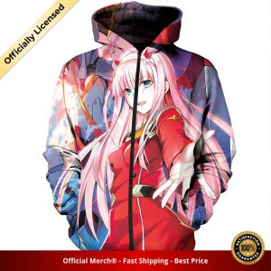 zip hoodie darling in the franxx zip hoodie zero two manga cover 1 1 - DARLING in the FRANXX Merch