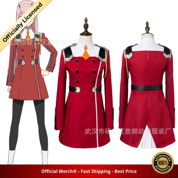 02 Zero Two Cosplay Costume DARLING in the FRANXX Cosplay DFXX Women Costume Full Sets Dress 1 - DARLING in the FRANXX Merch