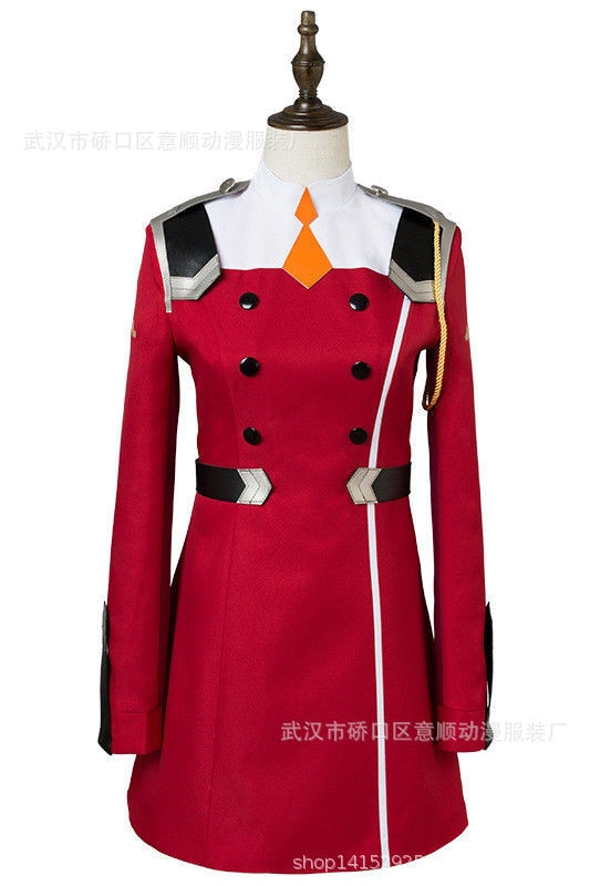 02 Zero Two Cosplay Costume DARLING in the FRANXX Cosplay DFXX Women Costume Full Sets Dress 2 - DARLING in the FRANXX Merch