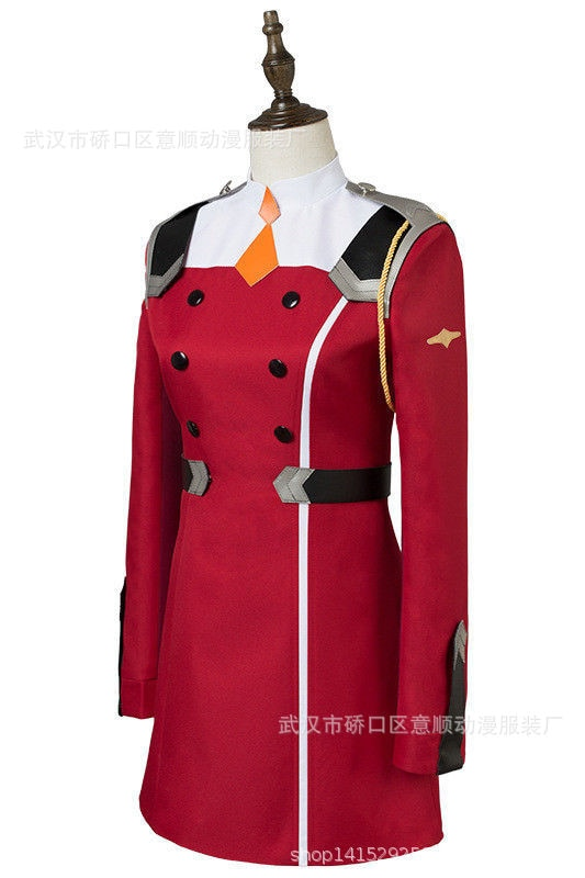 02 Zero Two Cosplay Costume DARLING in the FRANXX Cosplay DFXX Women Costume Full Sets Dress 3 - DARLING in the FRANXX Merch