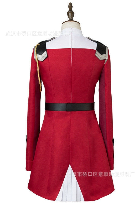 02 Zero Two Cosplay Costume DARLING in the FRANXX Cosplay DFXX Women Costume Full Sets Dress 4 - DARLING in the FRANXX Merch