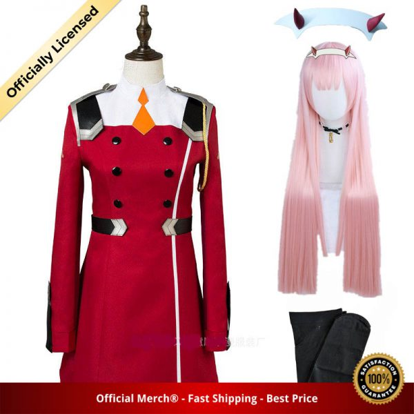02 Zero Two Cosplay Costume DARLING in the FRANXX Cosplay DFXX Women Costume Full Sets Dress - DARLING in the FRANXX Merch