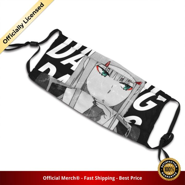 02 Zero Two Darling In The FranXX Washable Printed Mouth Face Mask Anti Haze Dustproof Polyester 4 - DARLING in the FRANXX Merch