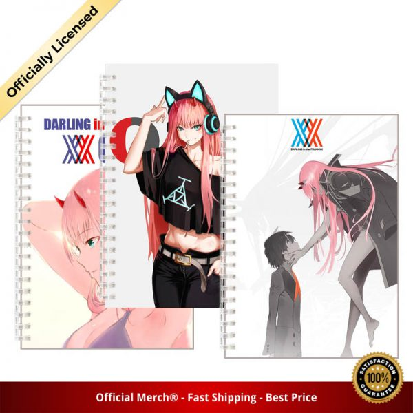 Anime DARLING in the FRANXX Spiral Notebook Hiro Zero Two Poster Note Book Gigure 02 Devil - DARLING in the FRANXX Merch
