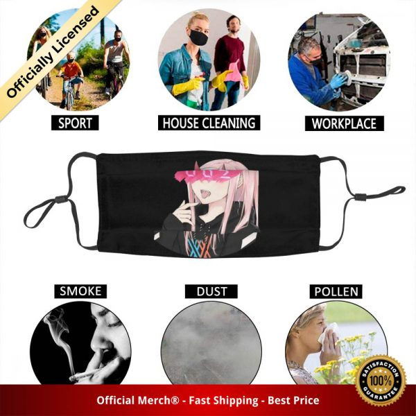 Darling In The Franxx Washable Unisex Adult Mouth Face Mask Zero Two Anti Dust Haze Protection 5 - DARLING in the FRANXX Merch
