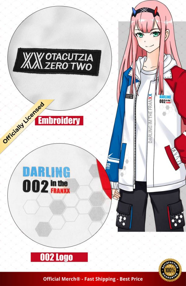 Darling in the Franxx Zero Two 02 Jacket zipper Hoodie Long Sleeve hooded Coat anime tops 4 - DARLING in the FRANXX Merch