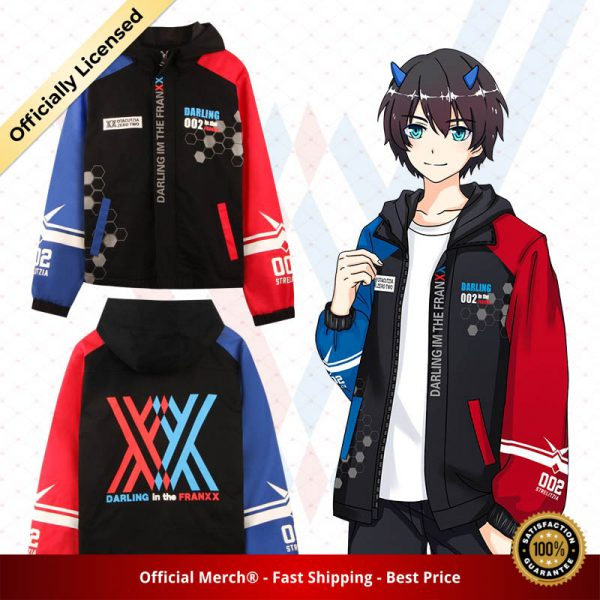 Darling in the Franxx Zero Two 02 Jacket zipper Hoodie Long Sleeve hooded Coat anime tops - DARLING in the FRANXX Merch