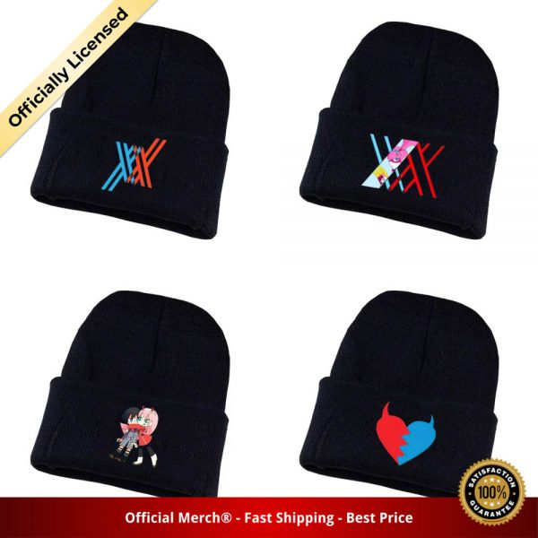 Game DARLING in the FRANXX Knitted hat Cosplay hat Unisex Print Adult Casual Cotton hat teenagers - DARLING in the FRANXX Merch
