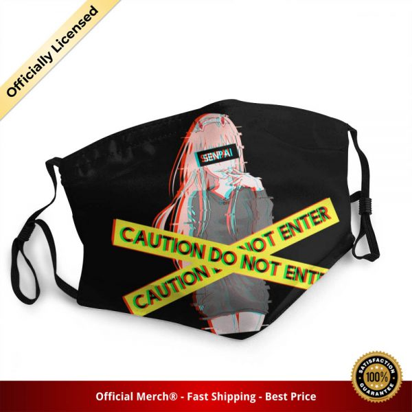 Kawaii Zero Two Reusable Face Mask Anime Manga TV Show Darling In The Franxx Anti Haze - DARLING in the FRANXX Merch