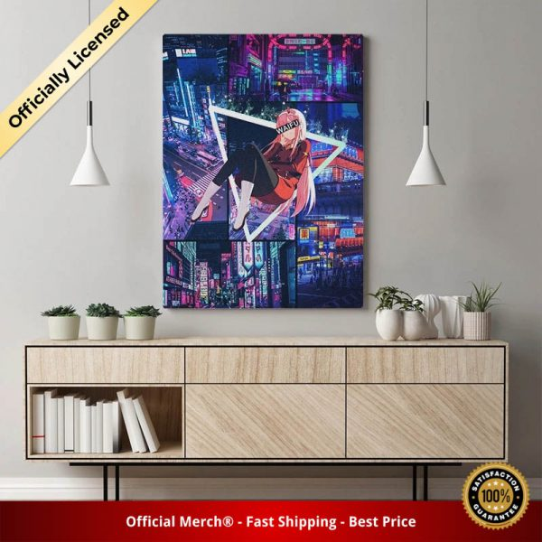 Zero Two Darling In The Franxx Anime Night City Poster Nordic Canvas Wall Art HD Prints - DARLING in the FRANXX Merch