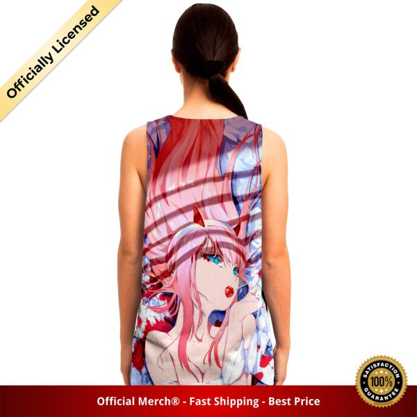 101d9a92e55e40f4f34b82f05ee44317 tankTop female back - DARLING in the FRANXX Merch