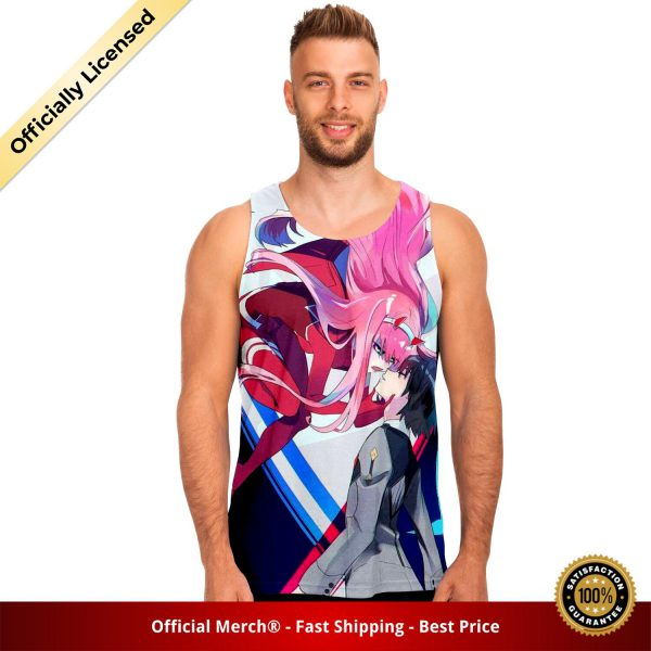 67cf80d9e7ccf58dd0557fbade981c23 tankTop male front - DARLING in the FRANXX Merch