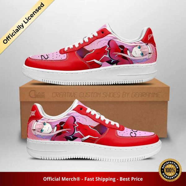 code 002 darling in the franxx shoes zero two air force sneakers anime shoes gearanime - DARLING in the FRANXX Merch