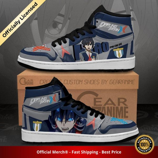 darling in the franxx hiro jordan sneakers code 016 custom shoes gearanime 2 - DARLING in the FRANXX Merch