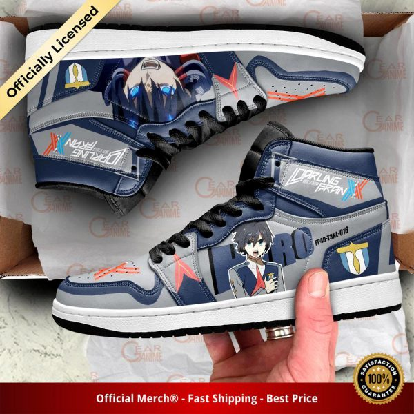 darling in the franxx hiro jordan sneakers code 016 custom shoes gearanime 3 - DARLING in the FRANXX Merch
