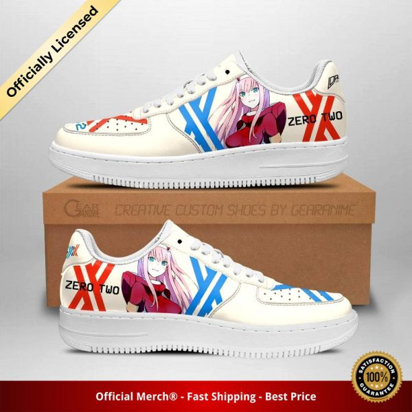darling in the franxx shoes code 002 zero two air force sneakers anime shoes gearanime - DARLING in the FRANXX Merch